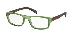 Prada Sport PS 06GV UFK1O1 TRANSPARENT GREEN RUBBER