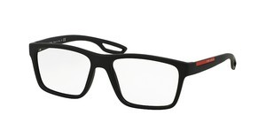 Prada Sport PS 07FV UAP1O1 BLACK RUBBER