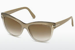 선글라스 Tom Ford Lily (FT0430 59G) - 뿔, Beige, Brown