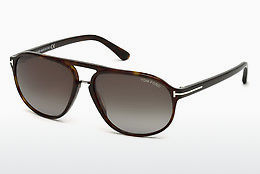 선글라스 Tom Ford Jacob (FT0447 52B) - 갈색, Dark, Havana