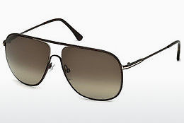 선글라스 Tom Ford Dominic (FT0451 49K) - 갈색, Dark, Matt