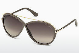 선글라스 Tom Ford Tamara (FT0454 59K) - 뿔, Beige, Brown