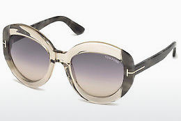 선글라스 Tom Ford FT0581 59B - 뿔, Beige, Brown