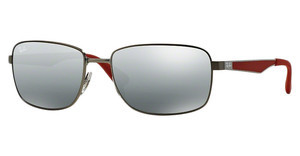 Ray-Ban RB3529 029/88 GREY MIRROR SILVER GRADIENTMATTE GUNMETAL