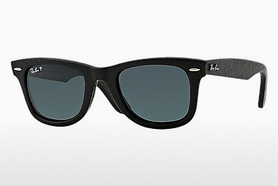 선글라스 Ray-Ban WAYFARER LEATHER (RB2140QM 1152N5) - 검은색