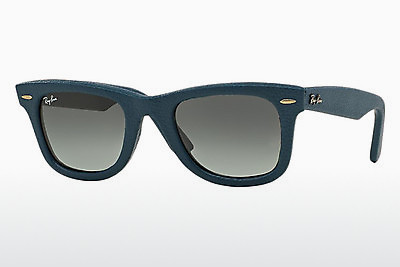 선글라스 Ray-Ban WAYFARER LEATHER (RB2140QM 116871) - 청색