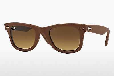 선글라스 Ray-Ban WAYFARER LEATHER (RB2140QM 116985) - 갈색