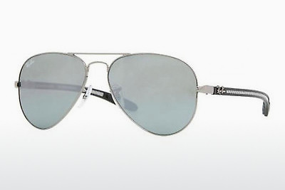 선글라스 Ray-Ban AVIATOR TM CARBON FIBRE (RB8307 004/40) - 은색