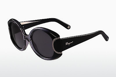 선글라스 Salvatore Ferragamo SF811S SIGNATURE 013 - 검은색, 회색