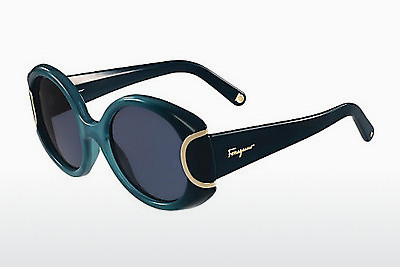 선글라스 Salvatore Ferragamo SF811S SIGNATURE 446 - 갈색