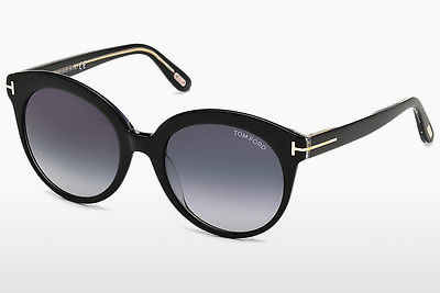 선글라스 Tom Ford Monica (FT0429 03W) - 검은색, Transparent