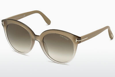 선글라스 Tom Ford Monica (FT0429 59B) - 뿔, Beige, Brown