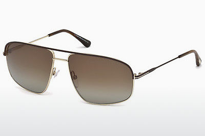 선글라스 Tom Ford Justin Navigator (FT0467 50H) - 갈색, Dark
