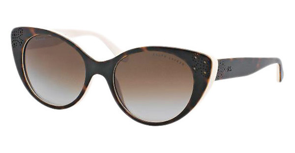Ralph Lauren RL8110 5451T5 GRADIENT BROWN POLARTOP DARK HAVANA/CREAM