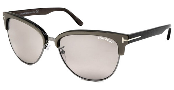 Tom Ford FT0368 57G braun verspiegeltbeige glanz